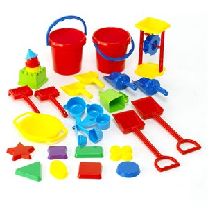 30 plastic sand toys