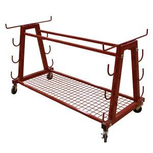 Heavy duty volleyball storage cart
