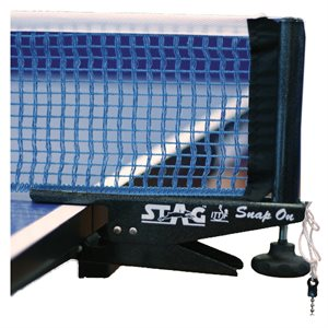 Snap-on table tennis net