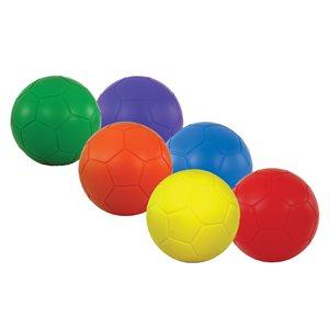 "6 soccer foam balls, 8"""