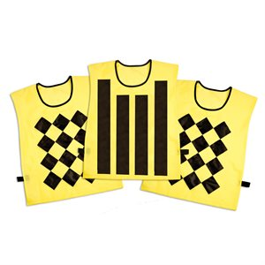 3 football sideline official pinnies