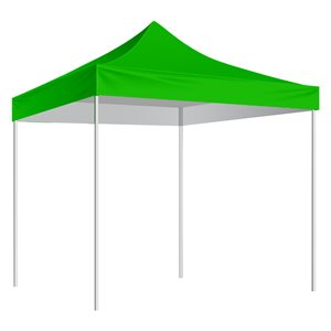 Folding Shelter with slip-over bag 10'x10', green