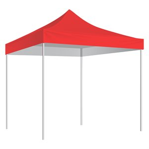 Folding Shelter with slip-over bag 10'x10', red