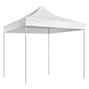 Folding Shelter with slip-over bag 10'x10', white