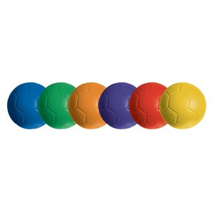 6 foam soccer balls Speedskin cover, #4