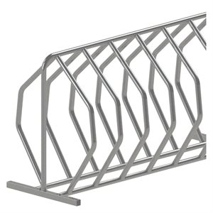 Bicycle rack, 24 spots, galvanized steel