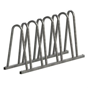 Bicycle rack, 7 spots, galvanized steel