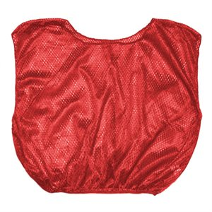 Elastic waist scrimmage vest, adult, red