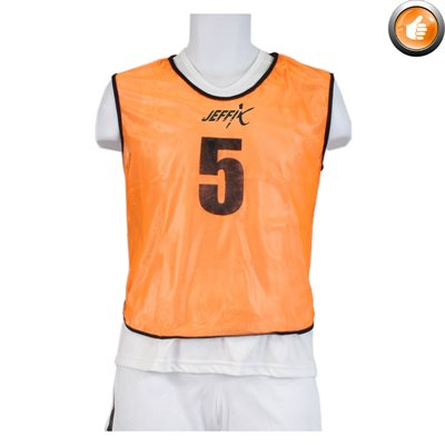 15 numbered pinnies, orange