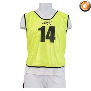 15 numbered pinnies, yellow