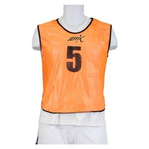 15 numbered pinnies, orange