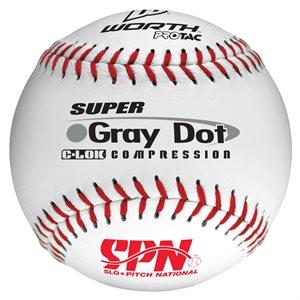 "12 softballs, cork core, .40 COR, 12"""