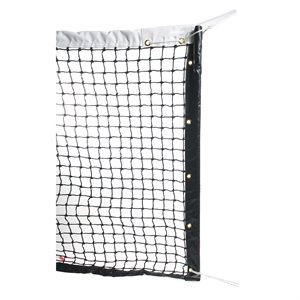 Tennis net, meshes knitted double