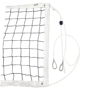Knotless competition volleyball net