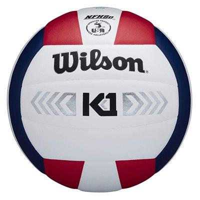 Wilson K1 volleyball, red / white / navy