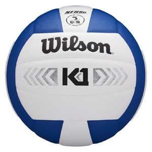 Wilson K1 volleyball, white / royal
