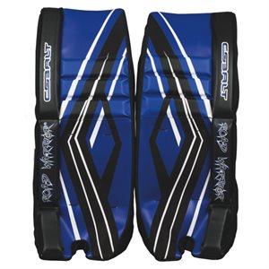 Reinforced hockey goalie pads